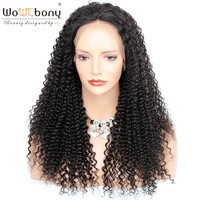 WoWEbony 4*4 Silk Top Lace Front Wigs 8A Grade Indian Remy Hair Kinky Curly Silk Base Lace Front Wigs For Black Women