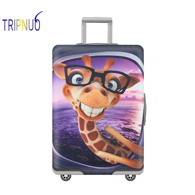 TRIPNUO Bear Partner Travel Suitcase Cover 19-32 Inch Cart Elastic Luggage Cover Travel Accessories