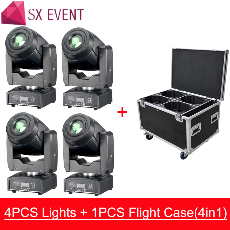 75W LED Spot Moving Head Light LED Gobo Lyre Moving Head Light with Rotation Gobo Function for DJ Disco Stage 4pcs/lot