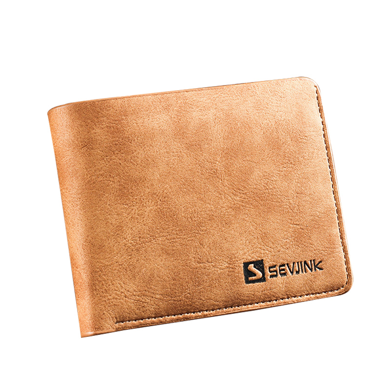 New Men Wallets Famous Brand PU Leather Wallet Men Card Holder With Photo Pocket Short Vintage Design Wallet Purse For Male male leather casual short design wallet card holder pocket