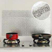 High Quality Aluminum Foil Self Adhensive Anti Oil Moistureproof Wallpaper For Kitchen Wall Sticker DIY Home