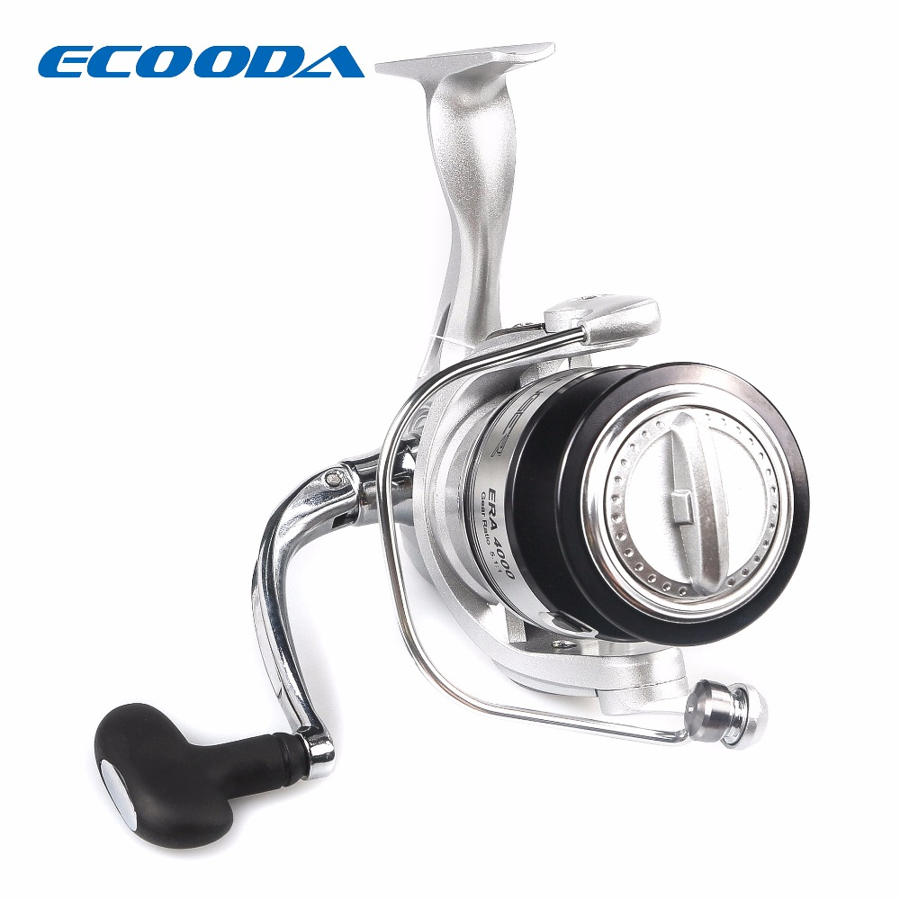 ECOODA Best Selling 5+1BB Spinning Reel 5.1:1 Gear ratio Fishing Reel Max Drag 8kg Carrete De Pescar Bait Casting Aluminum Spool