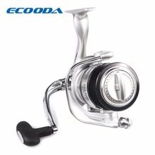 ECOODA Best Selling 5+1BB Spinning Reel 5.1:1 Gear ratio Fishing Reel Max Drag 8kg Carrete De Pescar Bait Casting Aluminum Spool