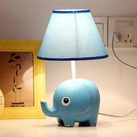 Promoción del Precio Bajo de Resina Niño Durmiendo de Lectura Lámpara de Mesa de Estudio de la Sombra Ropa Para niños Sala de Decoración 32x18 cm Azul Escritorio lámpara