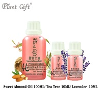 Free Shopping Massage Sweet Almond / Tea Tree / Lavender Oil Base 100ml Essential