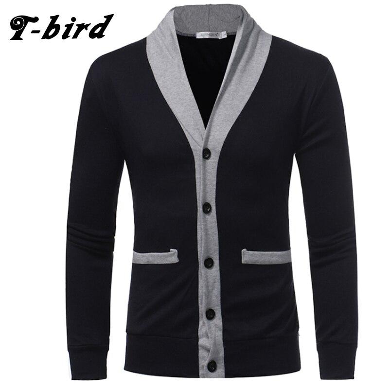 T-bird Sweater Men 2018 Brand V-Neck But
