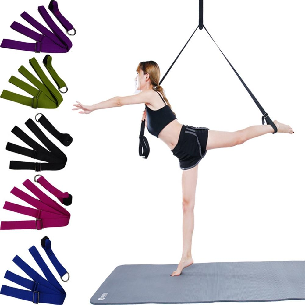 LumiParty Door Durable Prevent Slippery Flexible Leg Stretch Resistance Band Belt for Ballet Dance Yoga Split Training