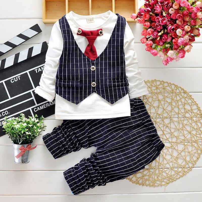 2017 mode jungen kleidung sets gentleman anzug kleinkind jungen - Kinderkleidung - Foto 2