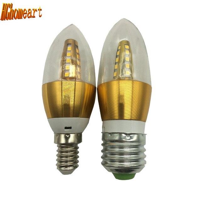 Hghomeart gold 5w 110v 220v e27 e14 led candle bulb light emitting hghomeart gold 5w 110v 220v e27 e14 led candle bulb light emitting diode led aloadofball Images