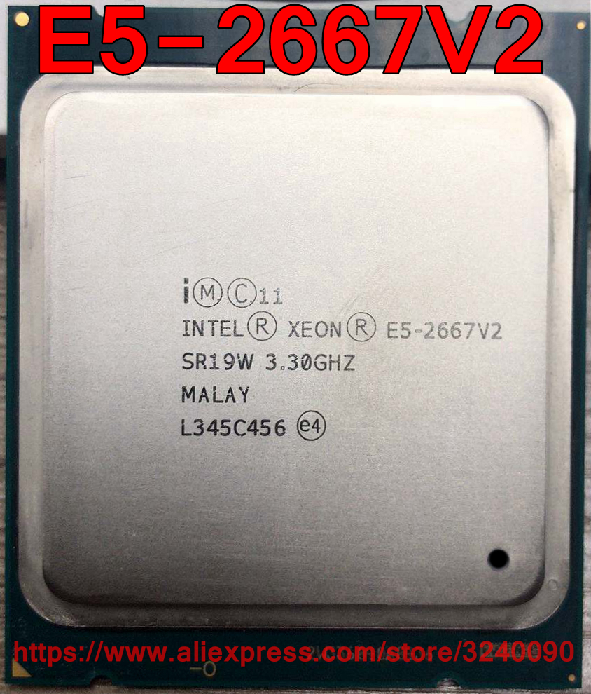 Intel Xeon CPU E5 2667V2 SR19W 3 3GHz 8 Core 25M LGA2011 E5 2667V2 E5 2667