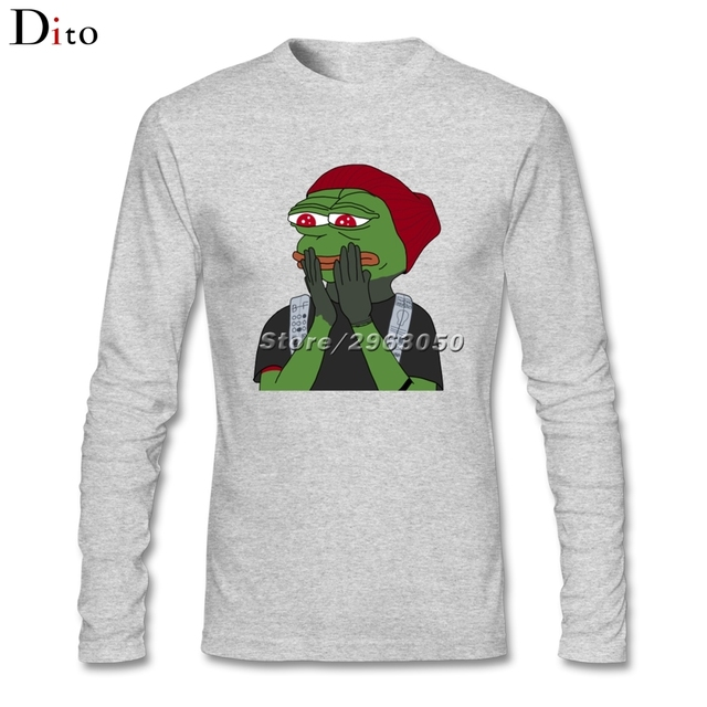 Men s Pepe the Frog Meme Shirt Long Sleeve Cotton Sad Frog T shirts Men Boy_640x640 men's pepe the frog meme shirt long sleeve cotton sad frog t