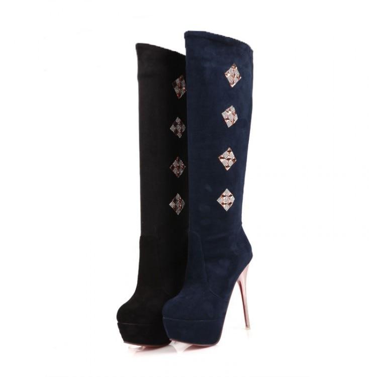 Femme Zapatos Il blu Mujer Stivali Masculina Donna Femininas Stile Botines  Stivaletti Botas 2 1 Scarpe Di ... fed29acc75b