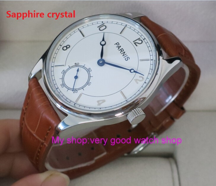Sapphire crystal 44mm PARNIS White dial Asian 6498 Mechanical Hand Wind movement men's watch Mechanical watches RNM06 44mm parnis white dial asian 6498 3621 mechanical hand wind movement men s watch mechanical watches rnm9