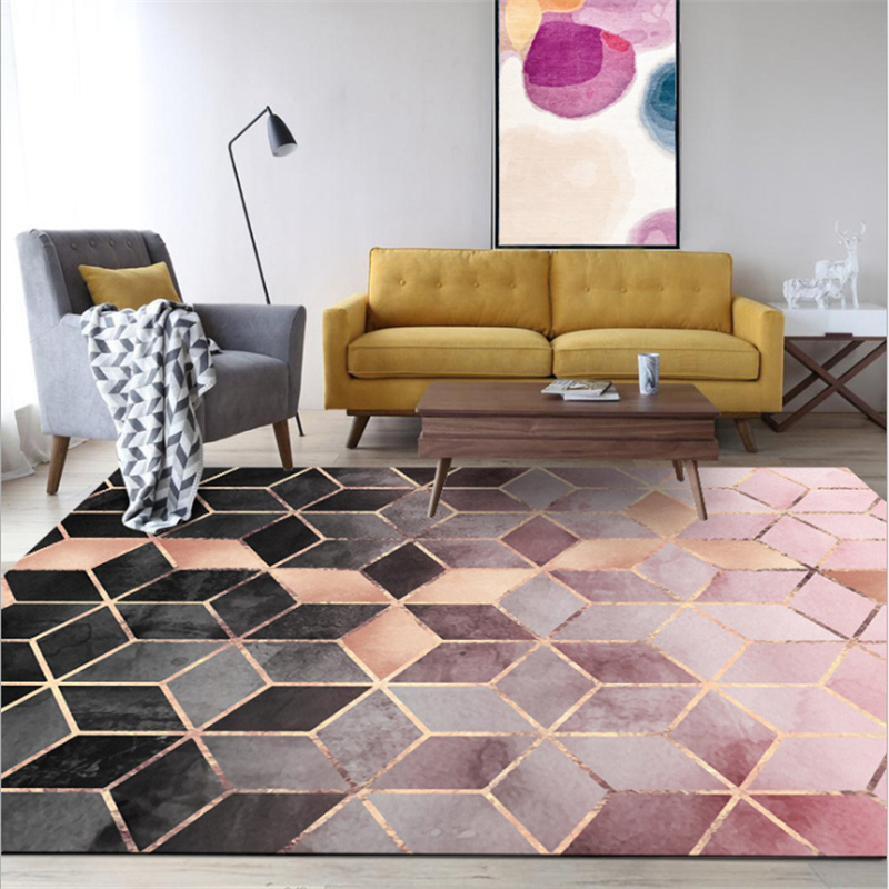 Living Room Area Rugs Rose Gold