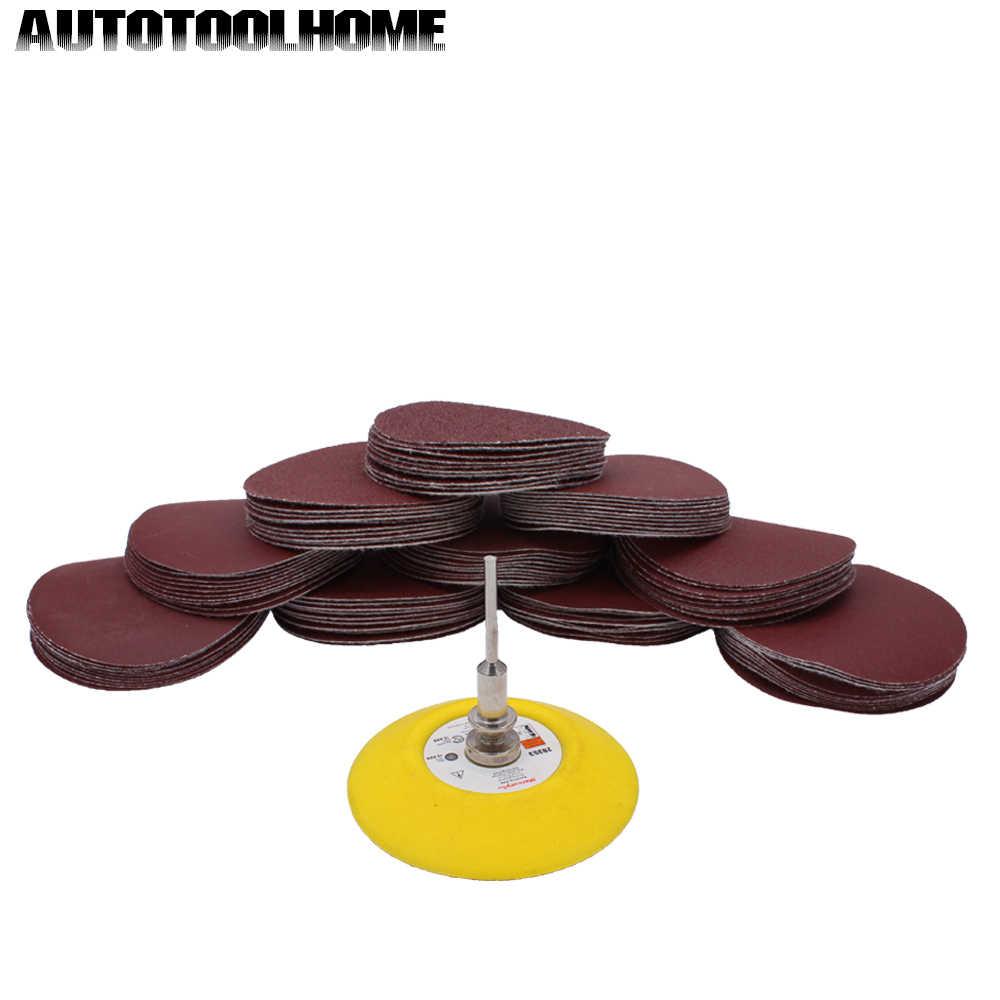 100x Sanding Discs Set Mixed Grit Sandpaper Backer Plate For Dremel Sander Tools