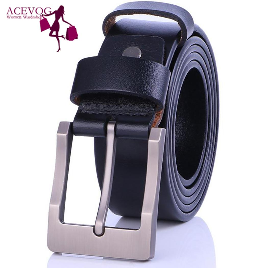 Men Waist Belt Casual Solid Adjustable good decoration for any clothes Daily Waist Leather Belt with Pin Buckle
