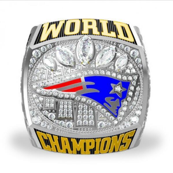 New Arrival Fashion Silver Plated Vintage 2017 Football Super Bowl LI New England Patriots Championship Ring Replica #BRADY