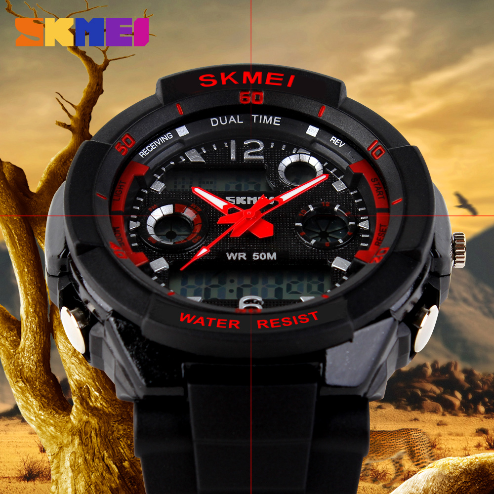 dress watch with rubber strap new skmei luxury brand men military sports watches student