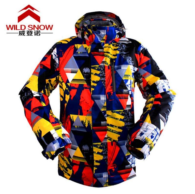 Waterproof Windproof Winter Ski Jacket Men Outdoor Sports Wear Full Sleeve Hooded Plus Size Camping Coat Snowboarding Jackets