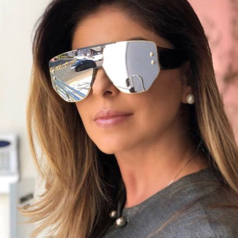 Apparel Accessories Women's Sunglasses Rfolve Seventeen Styles Rimless Oversized Sunglasses Men Women Brand Designer Vintage Square Sun Glasses Ladies Shades Uv R8509