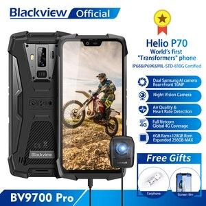 Image 1 - Blackview BV9700 פרו IP68 מחוספס נייד Helio P70 אוקטה Core 6GB + 128GB אנדרואיד 9.0 16MP + 8MP ראיית לילה מצלמה Smartphone