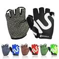 2016  gym gloves men women body building fashion fingerless fitness glove anti slip weight lifting sport training half finger