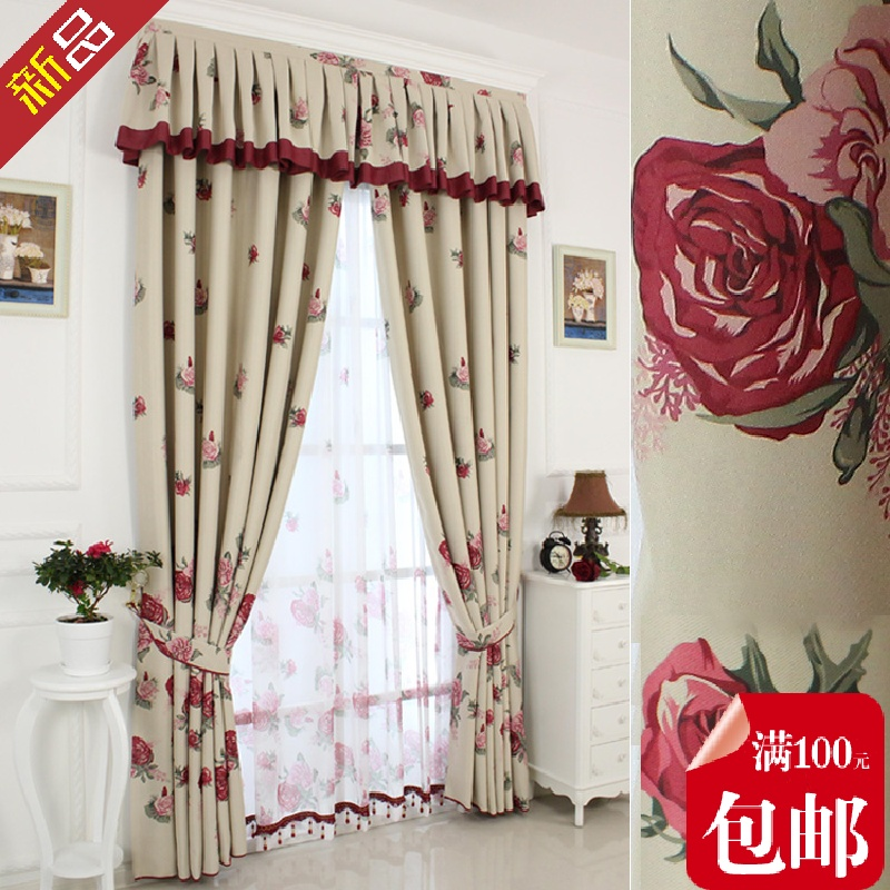 2015 Cortina Cortinas Rural Style Cloth Art The Bedroom Curtains. Curtains  Yarn Roses Love. Three Kinds of Different of Curtain