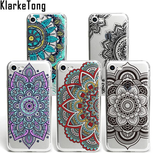 promo code 7b5fa 3c014 US $1.81 9% OFF|KlarkeTong Brand Boho Floral Case For iPhone 6s Mandala  Henna Phone Cases For iPhone XS MAX XR 7 8 Plus 5s SE Fundas Cover-in ...