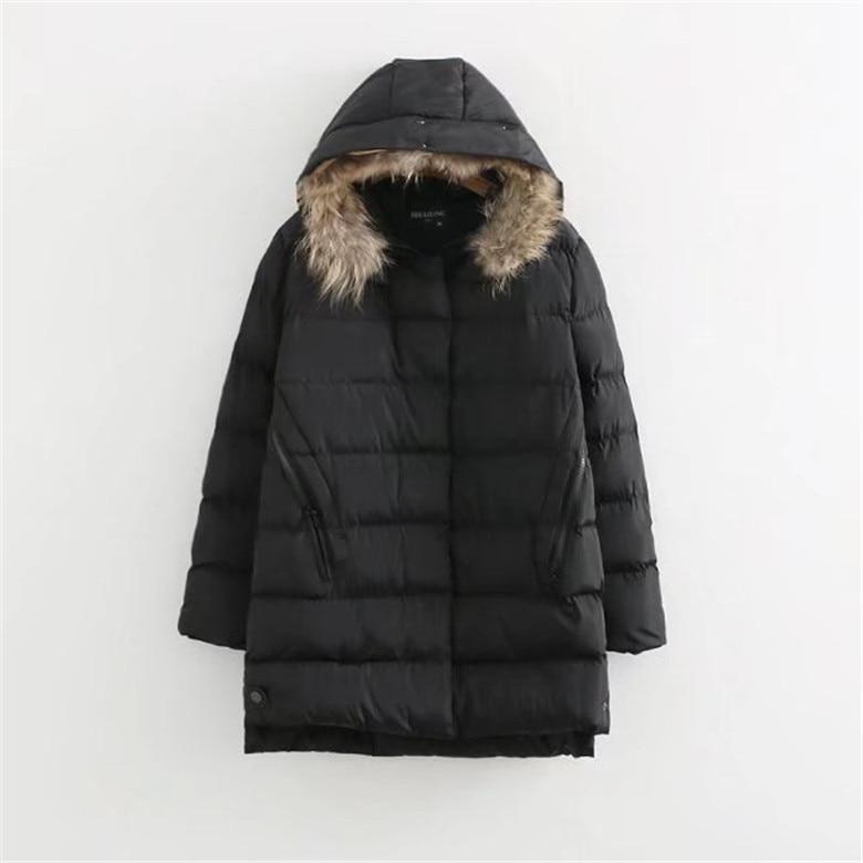 Winter Jackets 2017 Women Parka Jacket Female MediumLong Parka Fur Hood Coat Women Cotton Jacket Abrigos