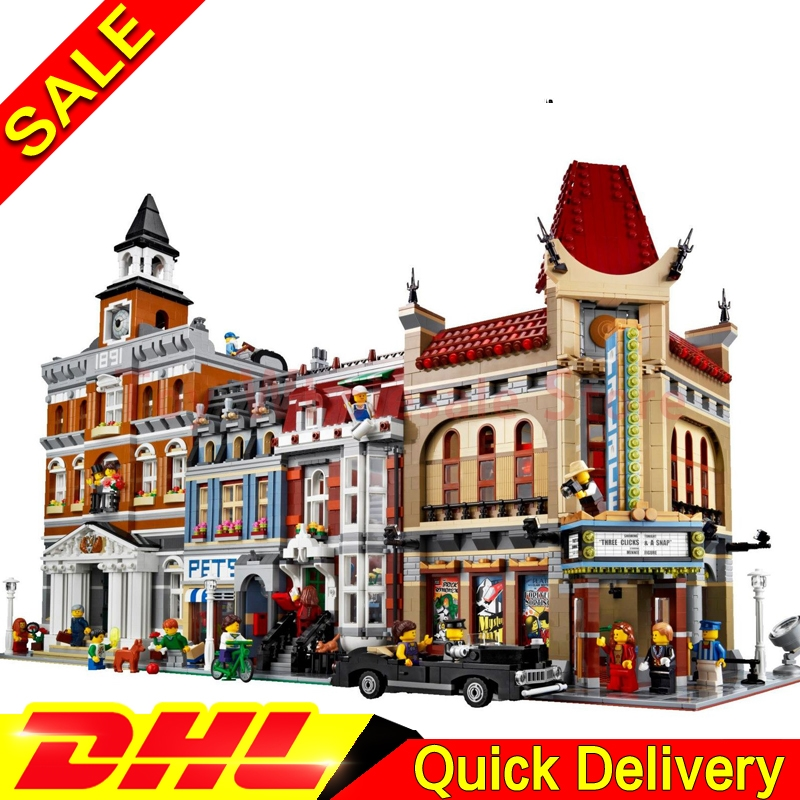 LEPIN 15003 Town Hall LEPIN 15006 Palace Cinema LEPIN 15009 Pet Shop Supermarket Model Building Street Sight Blocks Bricks toys lepin 15003 town hall lepin 15009 pet shop supermarket city street model building blocks bricks lgoings toys clone 10224 10218