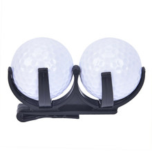 Club Golf Ball Holder For 2 Balls Golfing Sport Waist Hanging Magic Organizer Portable Exercise Accessory Games Training Tool(China)