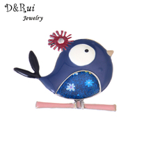 D&Rui Jewelry Enamel Women Brooches Lovely Fashion Animal Women Brooch Pins Bags Accessory Clothing Jewelry Pins