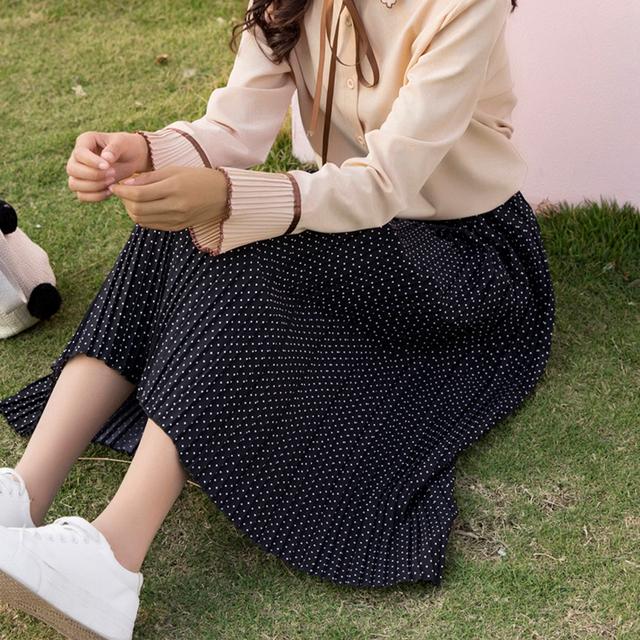 Women's Cotton Polka Dot Loose Skirt