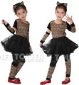 M~XL!! New Pretty Leopard Cat Children Cosplay Hallowean Costumes for Kids Party Stage Animal Carnival  Suits Gown Ball Dresses