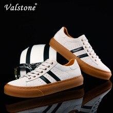 Valstone/роскошная мужская повседневная обувь из свиной кожи; мягкие дышащие кроссовки из натуральной кожи на плоской подошве; обувь из вулканизированной кожи; нескользящая подошва