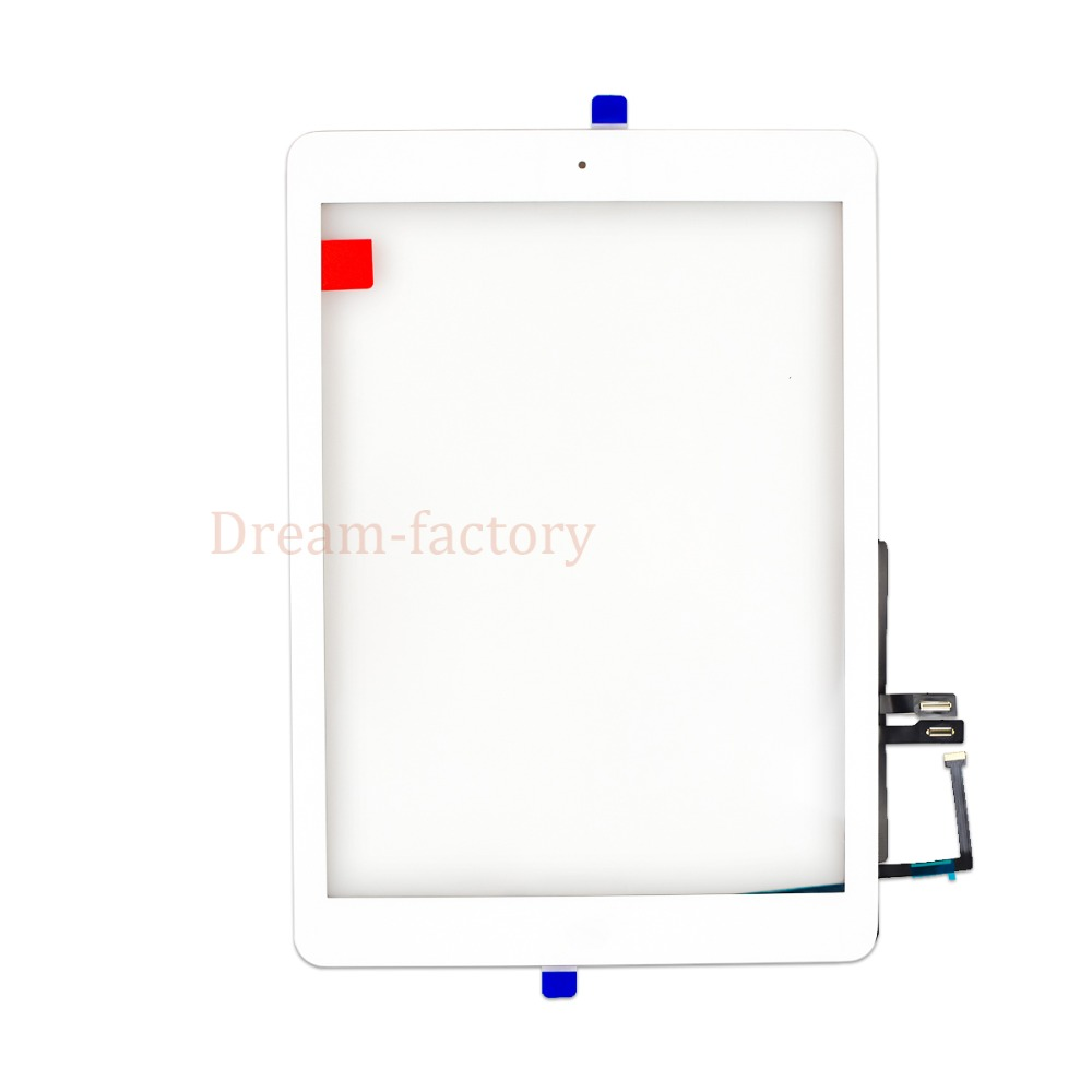 Image 2 - 10pcs For iPad 2018 A1893 A1954 Touch Screen Digitizer For iPad 6th includes Home Button +Camera holder+Adhesive-in Tablet LCDs & Panels from Computer & Office