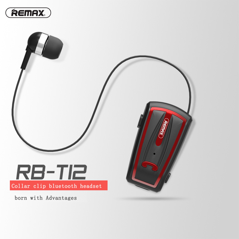 все цены на Remax RB-T12 Wireless Bluetooth 4.0 Clip-on headphone in-Ear Retractable Wear Business stereo Headset Collar clip Hands-free онлайн