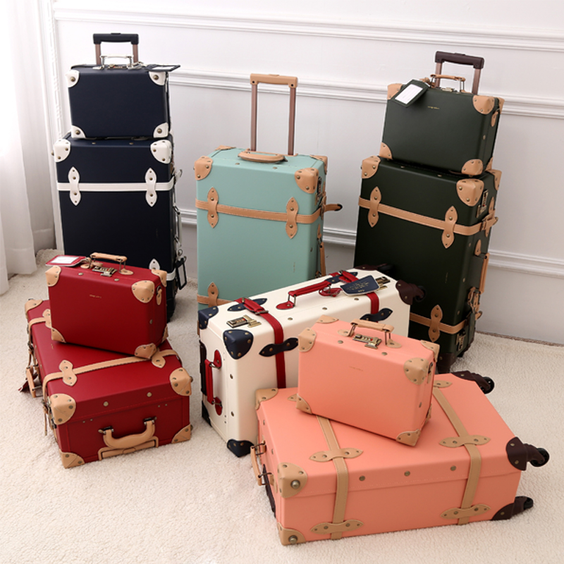 2018 new PU travel luggage set suitcase leather retro spinner wheels rolling luggage 3 colors high quality free shipping cbr chp 540m