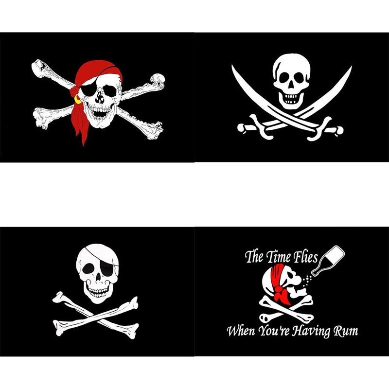 90x150cm Pirate Flag Calico Flag halloween Jolly Roger Skull Flag Polyester Banner Flags And Banners Home Decoration in Flags Banners Accessories from Home Garden