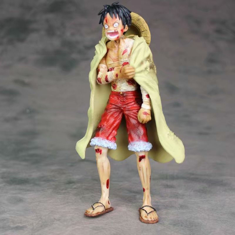 One Piece Battle Damaged Luffy Action Figure 1/8 Scale Painted Figure Injured Bandage Ver Monkey D Luffy Pvc Figure Toy Anime Action & Toy Figures