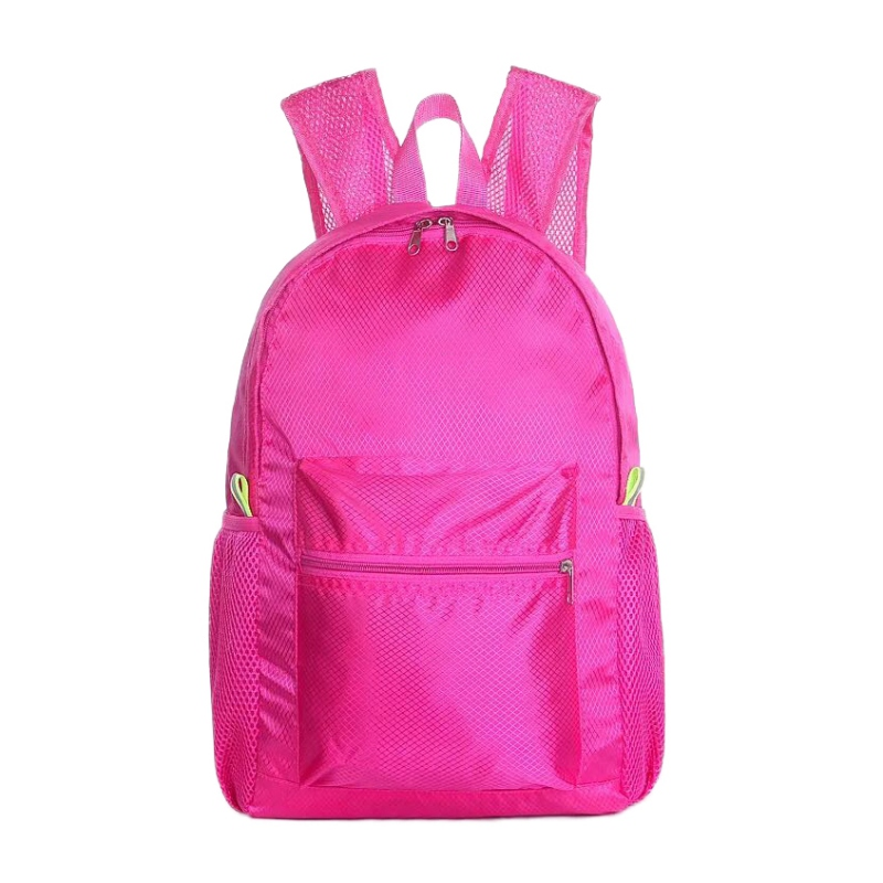 2018 Travel Backpack Waterproof Large Capacity Breathable Nylon Outdoor Mountaineering Bag Diamond Shaped Folding Backpack Clear And Distinctive Climbing Bags