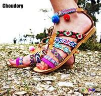 2017 New Fashion Summer Women Shoes Flat Sandals Lace Up Flip Flops Women Ankle Strap Sandals