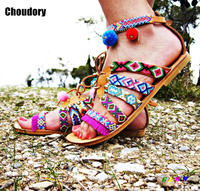2017 New Fashion Summer Women Shoes Flat Sandals Lace Up Flip Flops Women Ankle Strap Sandals