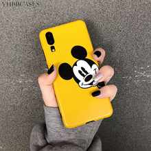 YHBBCASES Cartoon Mickey Mouse Soft Cases For Huawei P10 Mate 20 Pro Honor 10 Nova 2s Cute Yellow Phone Cover For iPhone 6s 7 8(China)