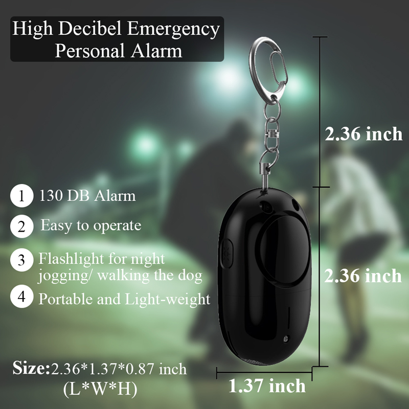 DAYTECH Self Defense Alarm 130dB LED Light Security Protection Girl Women Emgency Alert Personal Alarm