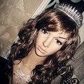 & Tiaras Coroas de Casamento do vintage Para A Venda Da Noiva Acessórios de Cabelo Enfeites de Cabelo jóias cabeça de Cristal Rhinestone pageant coroas