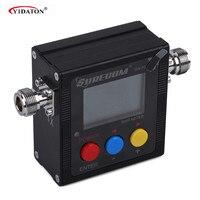 מכשיר הקשר ניו SWR Meter עבור מכשיר הקשר SW-102 VSWR 1.00-19.9 דיגיטלי VHF / UHF 125-525MHz Power & SWR מד רדיו Comunicador (1)