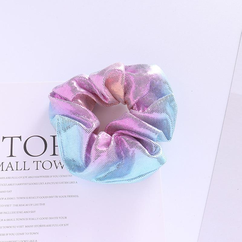 1 stück Neue Frauen Glänzende Stoff Farbverlauf Laser Stoff Haar - Bekleidungszubehör - Foto 1