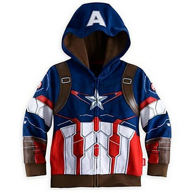 Boys Coat The Avengers Coat Autumn Cotton Kids Jacket Children Hulk Thor Captain America Hooded Casual Outerwear Kids Clothes