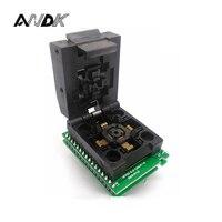 LQFP32 TQFP32 QFP32 Placa Dupla IC51-0324-805 Pitch 0.5mm Clamshell Tomada De Programação Tamanho 5*5 QFP SMD/SMT socket Test